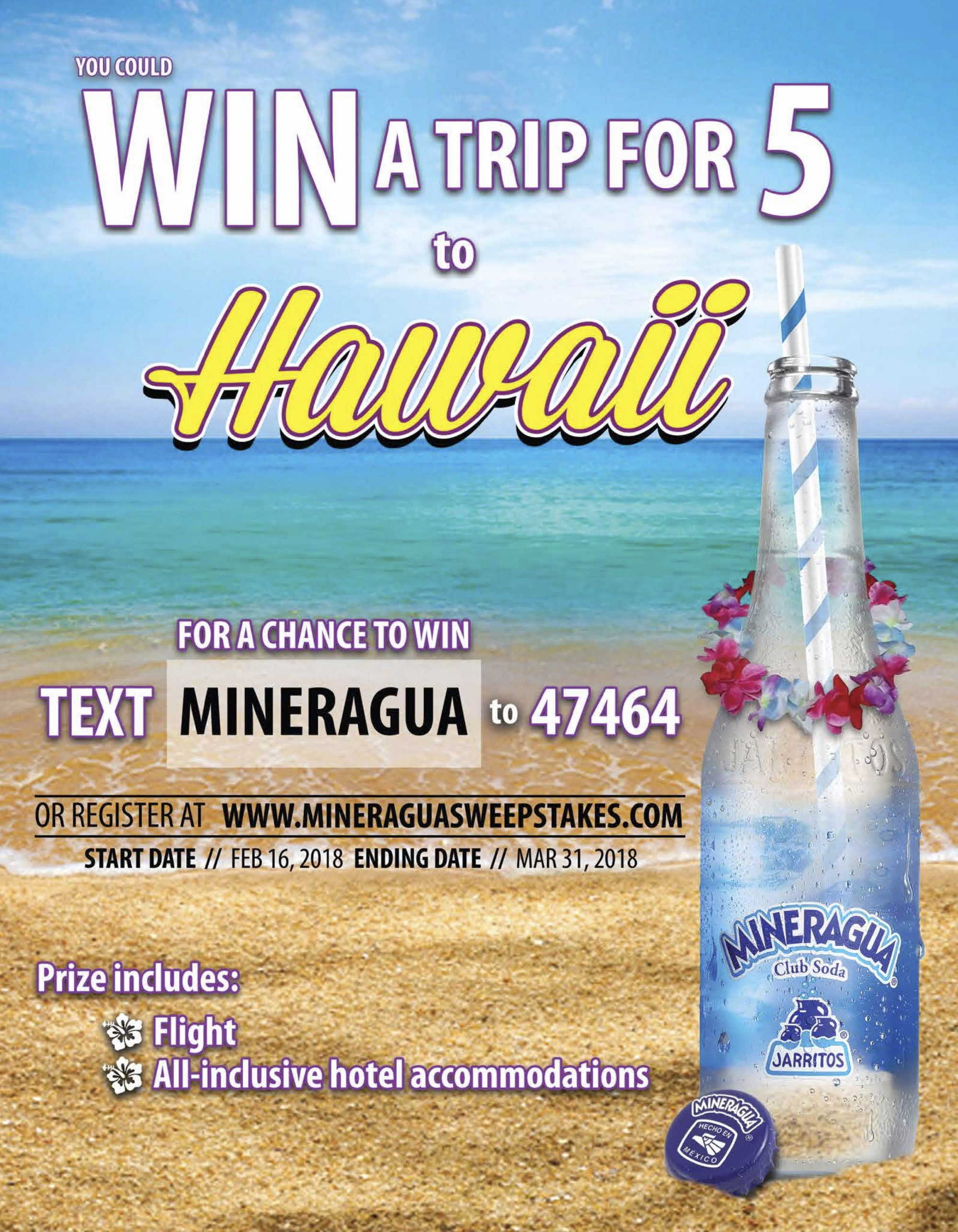 Win a trip to hawaii sweepstakes